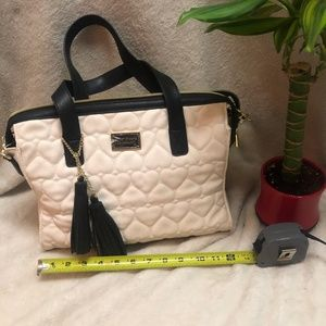 BRAND NEW Betsy Johnson heart style quilted tote